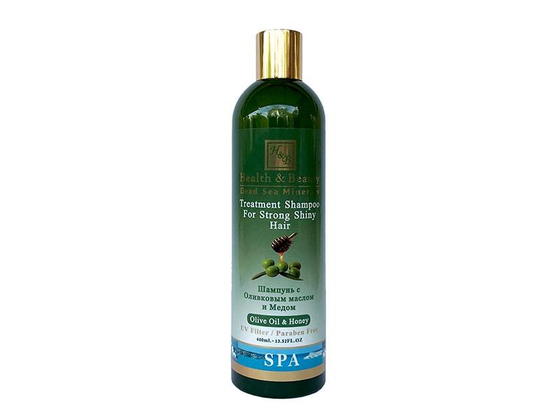Шампунь для волос с добавлением оливкового масла и меда Health & Beauty (Хэлс энд Бьюти) 400 мл фото