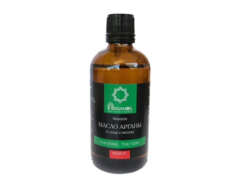 Аргановое масло для ухода и массажа (вербена-зеленый чай)100 мл, ARGANOIL FRUITS DU MAROC фото