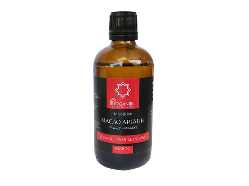 Аргановое масло для ухода и массажа (апельсин-грейфрут)100 мл, ARGANOIL FRUITS DU MAROC фото