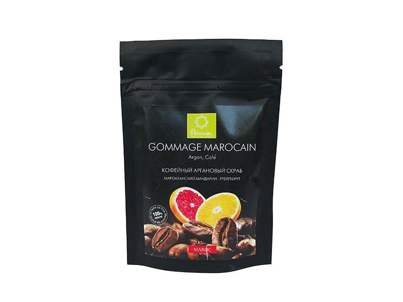 Кофейный аргановый скраб (Грейпфрут – Мандарин)60 г, ARGANOIL FRUITS DU MAROC фото