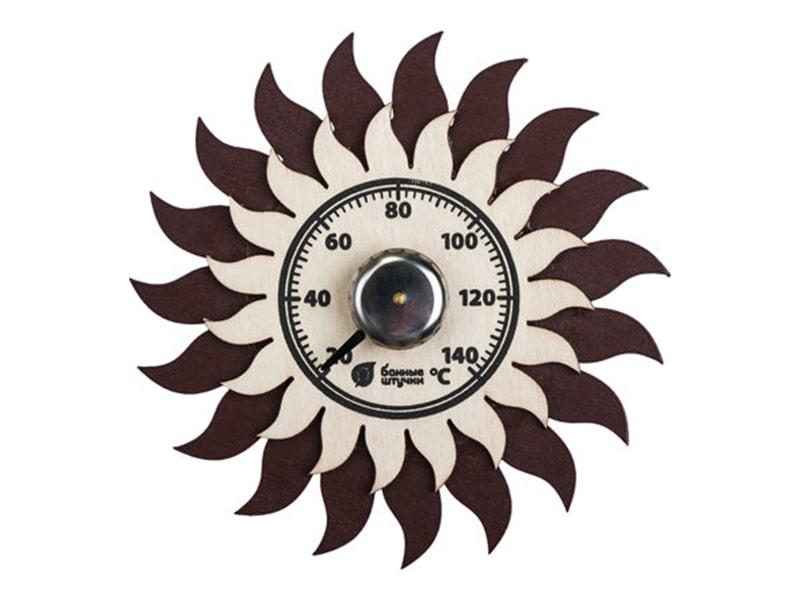 "Термометр ""Солнышко"" 13*13см для бани и сауны фото"
