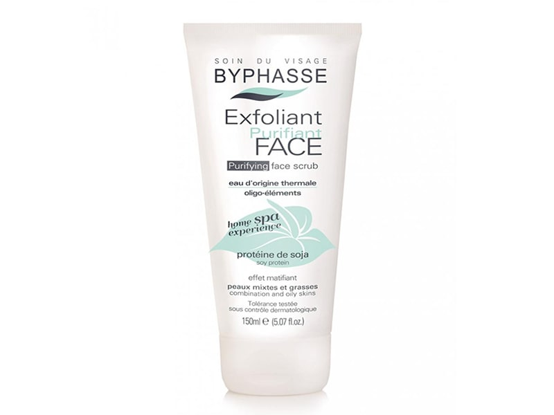 СКРАБ ДЛЯ ЛИЦА BYPHASSE PURIFYING FACE SCRUB COMBINATION TO OILY SKINS 150 МЛ фото