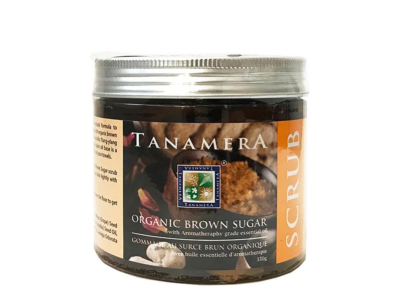 органический скраб с коричневым сахаром TANAMERA ORGANIC BROWN SUGAR SCRUB 350G фото