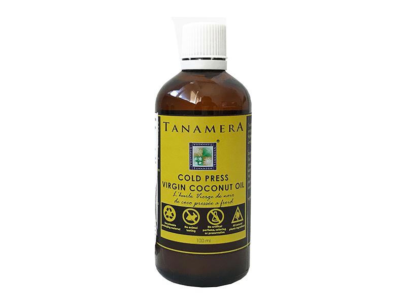 Кокосовое масло первого холодного отжима TANAMERA COLD PRESS VIRGIN COCONUT OIL 100ML фото