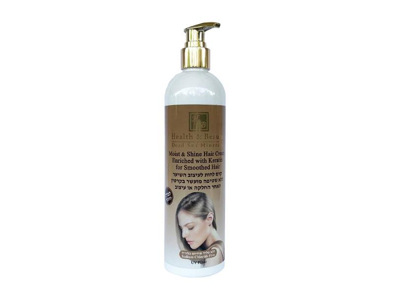 Увлажняющий крем для волос с силиконами Обогащённый Кератином Health & Beauty (Хэлс энд Бьюти) 400 м фото