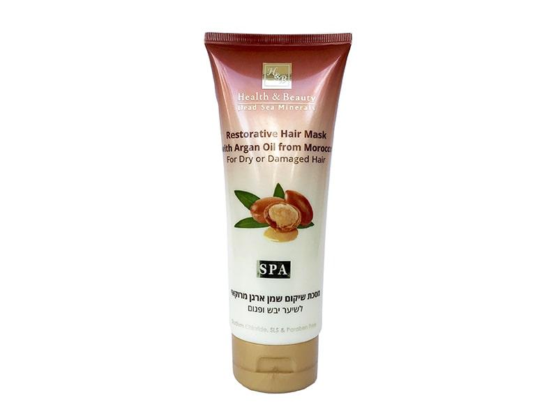 Маска для сухих и поврежденных волос с маслом Марокканской Арганы Health & Beauty (Хэлс энд Бьюти) 2 фото