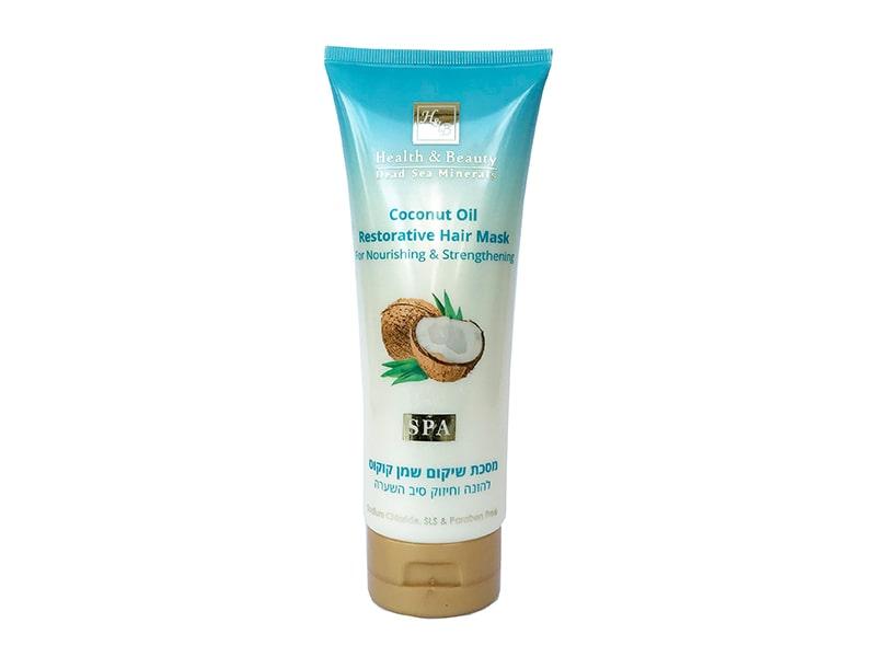 Восстанавливающая маска для волос с Кокосовым маслом Health & Beauty (Хэлс энд Бьюти) 200 мл фото